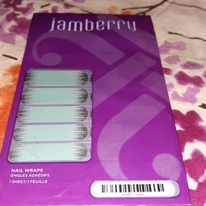 Jamberry Nail Wraps Blue/Silver Glitter A987 Iced